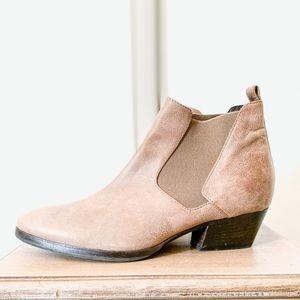 Aquatalia Leather Ankle Chelsea Boots